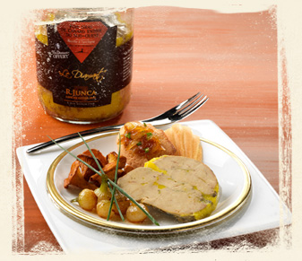 recette foie gras et madeleine