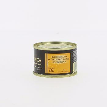Bloc de foie gras de canard du Sud-Ouest avec morceaux