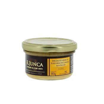 Spécialité à base de foie de gras de canard aux figues