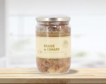 Braisé de canard sauce forestière aux cèpes