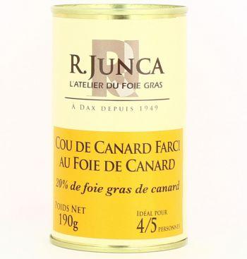 Cou de canard farci au foie de canard (20% de foie gras de canard)