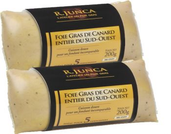 Lot 2 Foies gras de canard mi-cuits sous vide 200g
