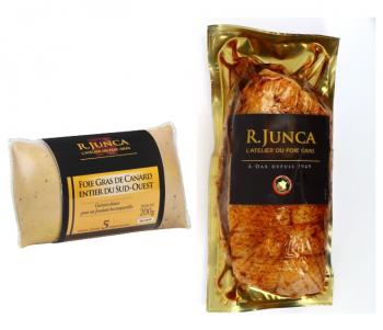 Menu 4 personnes en frais  : Foie gras et Rôti de magret au piment d'Espelette