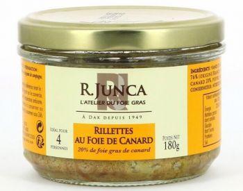 Rillettes au foie de canard (20% de foie gras de canard)
