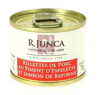 Rillettes de Porc Piment d'Espelette et Jambon de Bayonne