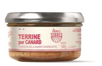 Terrine pur Canard fleur de sel et piment d'Espelette